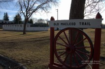 This marker is located right in midst of the town of High River.