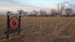 This was the last marker I had a chance to photograph before losing the light. This is located WNW of Claresholm.